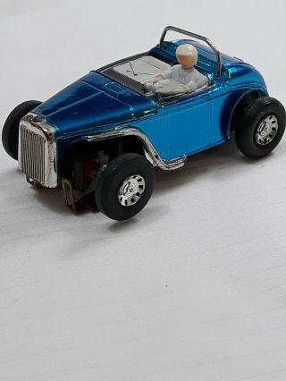 Vintage Tyco Hot Rod Ho Slot Car Chrome Blue Vgc