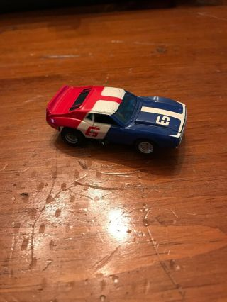Vintage Aurora/afx - Amc Javelin 6 - Red/white/blue - Ho Slot Car