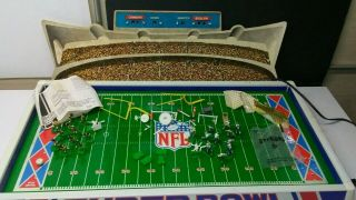 Vtg 1976 Tudor Superbowl Electric Football Steelers Cowboys &