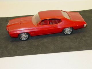 Vintage Plastic 1970 Pontiac Gto Hard Top,  Parts,  Michigan,  Dealer Promo Car