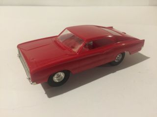 "Vintage Red Hot "" 426 Hemi "" Dodge Charger Eldon 1/32 Scale Slot Car"