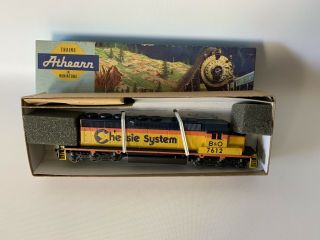 Vintage Athearn Chessie Systems Ho Scale Locomotive Model Train Engine