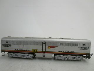 Vintage S Scale American Flyer Santa Fe No.  364 Locomotive Car