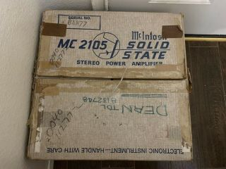 Rare Mcintosh Mc2105 Stereo Amplifier Box - Box Only -
