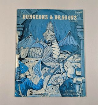 Vintage Dungeons & Dragons Rulebook F116 - R Tsr Games D&d 1977 Print 1st Edition