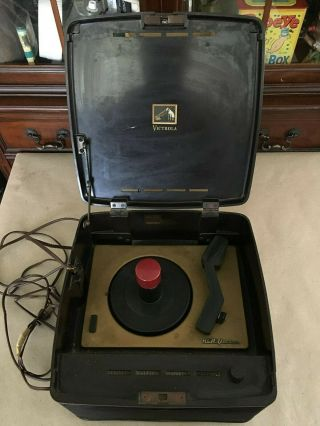 "Vintage Rca Victor Victrola "" Bakelite "" Phonograph / Record Player Model 45 - Ey - 3"