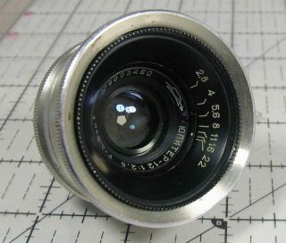 Russian Jupiter - 12 3.  5cm F/2.  8 Wide Angle Lens Leica Thread M39 For Fed Zorki