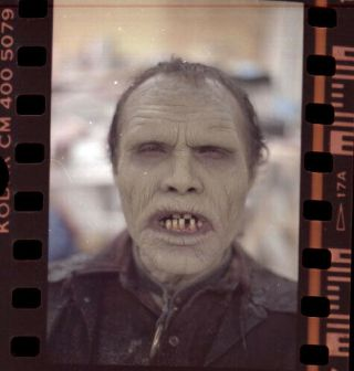 Ha8s Vintage Day Of The Dead Zombie Actor Movie Film Makeup Art Negative Photo