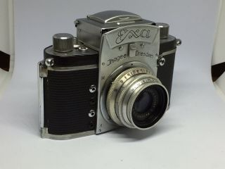 Vintage Exa Ihagee Dresden Camera With Lens And Case Germany