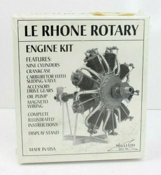 Vintage Williams Bros 301 1/8 Le Rhone 9 Cylinder Rotary Radial Engine Model Kit