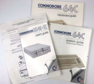 Commodore 64c Computer Introductory & Systems Guide 1541 - Ii Disk Drive