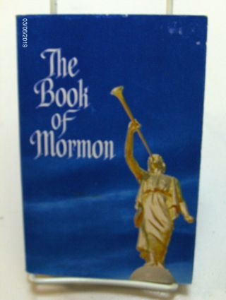 The Book Of Mormon Blue Angel Moroni 1980 Vintage Collectable Lds