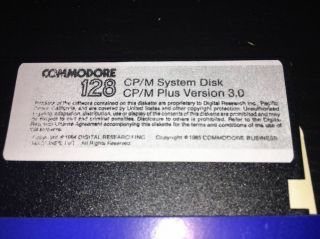 Commodore 128 Cp/m System Disk And Cp/m Utilities