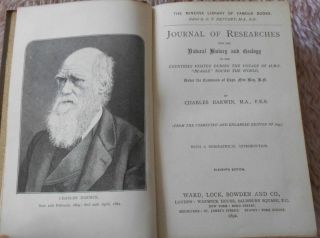1892 Charles Darwin Voyage Hms Beagle Round World Antiquarian Natural History
