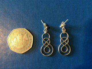 Ola Gorie,  Vintage Omg St.  Sil Drop Earrings,  Silver