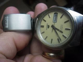 Vintage Retro Gents Seiko 5 Automatic Watch Inc Strap 6309 - 8210 Spare