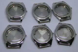 6 X Vintage Old Stock Stainless Steel Gent