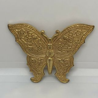 Vintage Brooch Miriam Haskell Gold Tone Butterfly