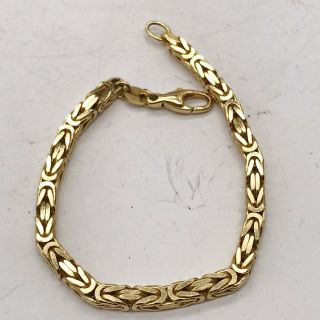 Vintage 9ct Gold Plated Fancy Modernist Link Design Ladies Bracelet Bangle