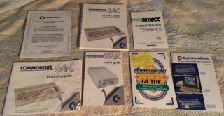 Commodore 64c Computer Introductory & Systems Guide 1541 - Ii Disk Drive (7 Books)
