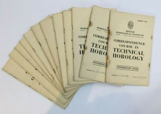 12 Vintage Books Correspondence Course In Technical Horology Intermediate Grade