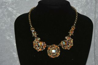 Vintage Costume Jewellery Necklace Signed Exquisite