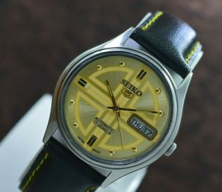 Vintage Seiko 5 Day Date 17 Jewels 6309 Automatic Movt Men