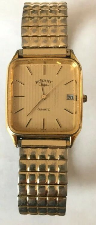 Vintage Rotary Mens Dress Watch Full Order
