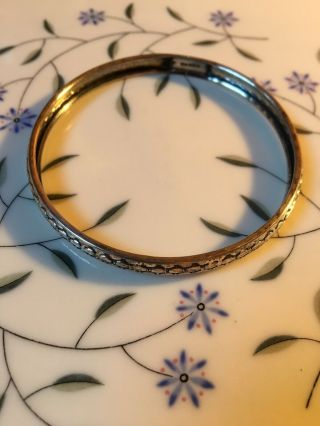 Gorgeous Vintage Sterling Silver Bangle - Beau