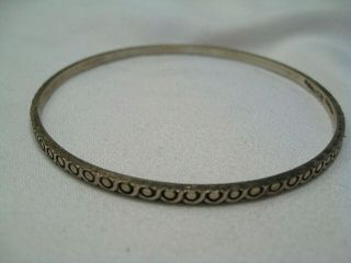 Vintage Hob Sterling Silver Bangle Bracelet.  42