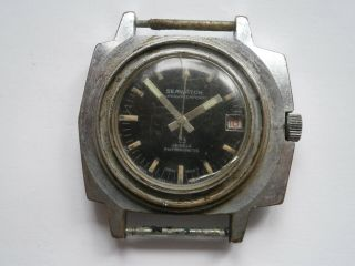 Vintage Gents Divers Style Wristwatch Seawatch Mechanical Watch Spares