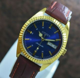 Vintage Citizen Gold Plated Day Date 21 Jewels Automatic Men