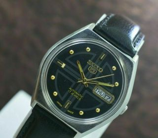 Vintage Seiko 5 Day Date 17 Jewels 6309 Movement Men