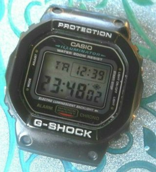 Vintage Casio G - Shock Protection Mens Digital Watch Module 1545 Dw 5600e
