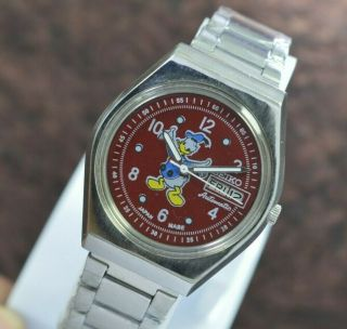 Vintage Seiko Donald Duck Day Date 17 Jewels 6309 Movement Men
