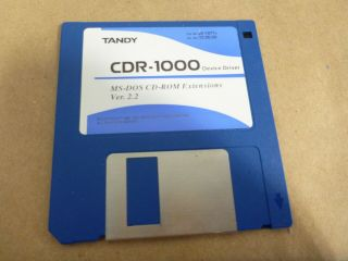 """Floppy Disk 3.  5 """" Floppie Drivers Software For Vintage Tandy Cdr - 1000 Drive"""