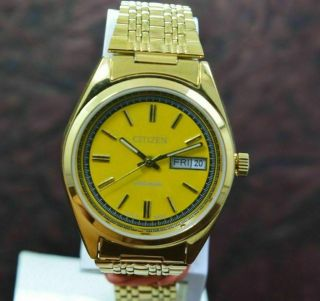 Vintage Citizen Gold Plated Day Date 21 Jewels Men