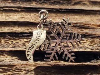 Vintage Sterling Silver Sun Valley Idaho Snowflake Charm