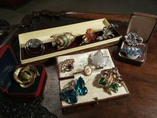 12 Lovely Vintage Brooches Some Signed Vintage Jewellery