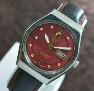 Vintage Seiko 5 Day Date 17 Jewels 6349 Automatic Movt Men