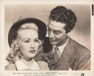 Betty Grable Victor Mature Vintage Portrait For Hot Spot Aka I Wake Up Screaming