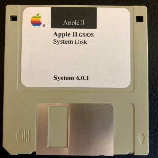 Apple Ii Gs / Os System Disk 6.  0.  1 - Apple Iigs Computers