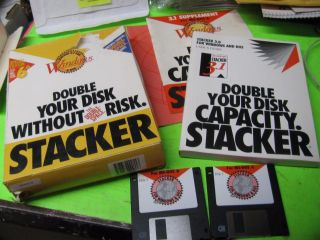 Stacker Version 3.  1 For Windows & Ms - Dos 6.  0 Double Disk Space Software Complete