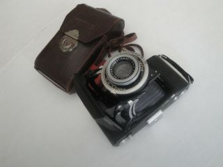 Antique Zeiss Ikon Nettar Anastigmat Compur Camera 515/2 With Case 1:45 F=10,  5