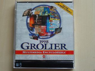 1998 Grolier Multimedia Encyclopedia Deluxe 2cd For Windows 3.  1/95 Ms - Dos 5.  0