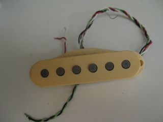 Vintage Fender Stratocaster Guitar Pickup By Dimarzio For Project / Repair Ivory