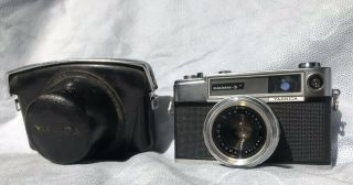 - Yashica Minister D Range Finder Film Camera With Case Japan Vintage