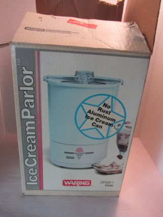 Vintage Waring Model Cf520 - 1 Electric Ice Cream Parlor Maker White