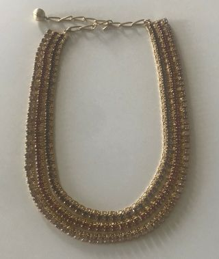 Vintage Hobe Necklace,  Layered Purple & Pink