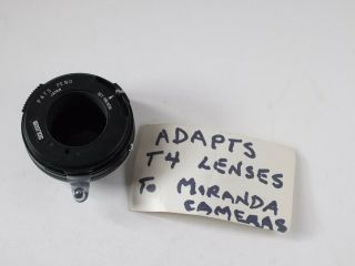 Soligor Lens Adapter - Adapts T4 Lenses For Miranda Cameras - Rl